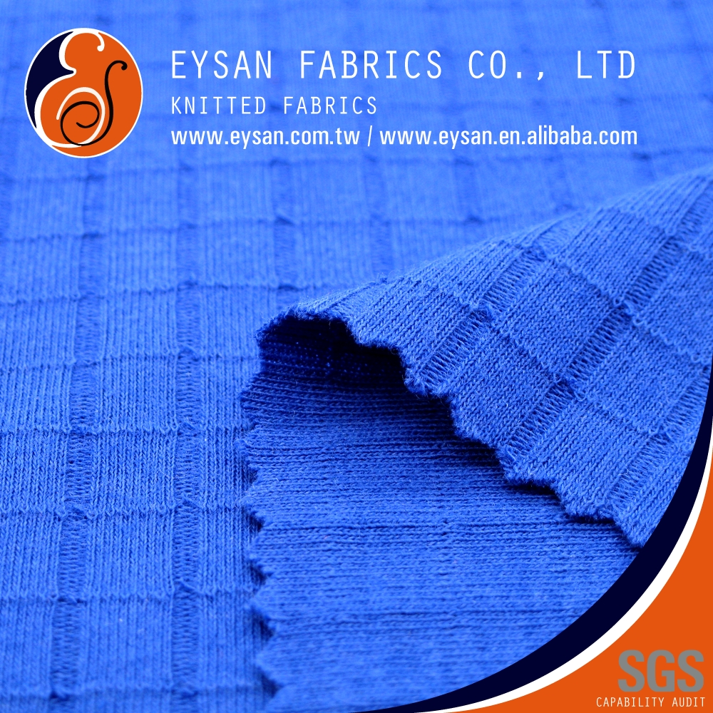 EYSAN Double Knit Interlock Polyester Cotton Check Shirt Fabric
