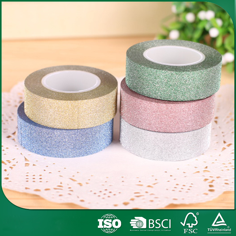 gift card decor giftwraping tape, stationery glitter tape for child, patterned glitter tape
