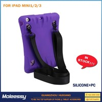 cute belt clip leather stand case for ipad mini