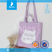 Eco-friendly Personalized cate tote canvas bags