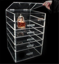 acrylic 5 tiers drawers clear makeup/cosmetic organizer wholesale