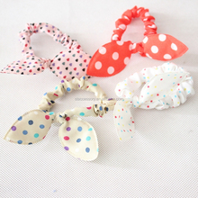 bunny rabbit ear Fashion wave point spot small flower hair rope hair ring hair band head band <strong>headband</strong>