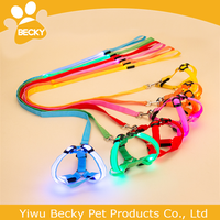 Hot Sale Led Dog Collar And Leash Sex Solid Color Flashing Dog Harness