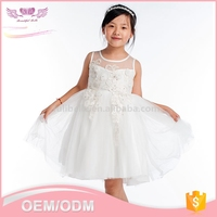 Wholesale 2016 fashion hand embroidery child designer one piece party dresses or flower girl kid dress