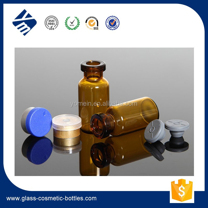 20ml cosmetic glass tube bottle glass vial with rubber stopper logo printing for essential oil