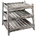 Country Rustic Wood Crate Design storage Rack with 3 Cascading Shelves