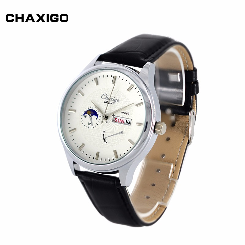 Stainless Steel Back Japan Movement Slim Case 3ATM Water Resistance Leather Strap Custom Watch Manufacturer