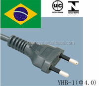 china manufacturer wholesale 10A 16A 250V Brazil ac power cord for Laptop Cord