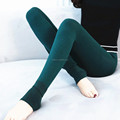 Ladies sexy spandex fleece lined brushed legging