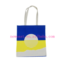 custom 2016 new style organic cotton tote bag with printing logo