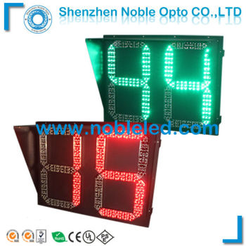 two digital two colors traffic light timer