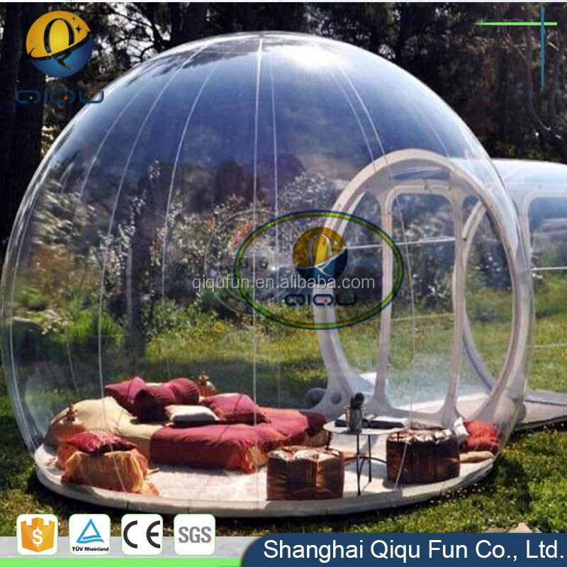 High quality inflatable transparent bubble dome tent, inflatable clear dome tent for beach tent
