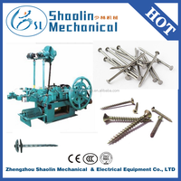 Top quality automatic roofing nails/steel iron nail making machine with best service