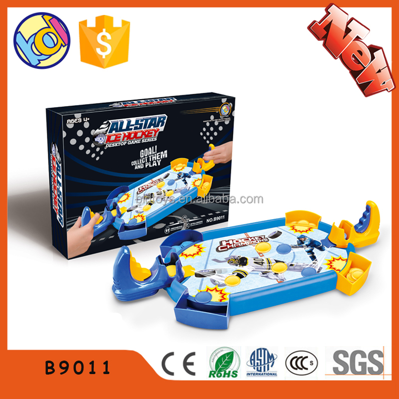 Mini size shooting paintball game air hockey table toys