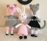 hand knitted lovely crochet animal toy rabbit patterns for baby