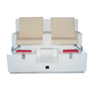 China manufacture two seats pedicure chair, luxury spa pedicure chairs