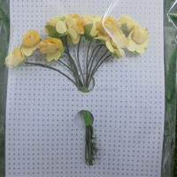 SINO Yello Paper Flowers Beautiful Crafts