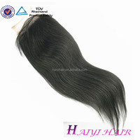 Straight remy lace front closure with baby hair bundles with closure