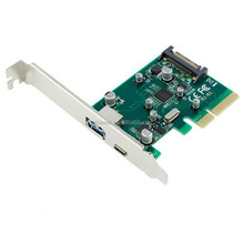PCI-E 4X Express to Internal USB 3.1 type-c type-A SATA Dual Port Riser Expansion 10Gbp Card Adapter