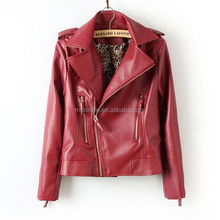 S30702A JACKET WOMEN AUTUMN 2015 EUROPEAN HOT SEXY GIRLS PU LEATHER JACKET