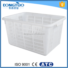 Customized fruit vegetable plastic basket, food grade plastic basket hot sale