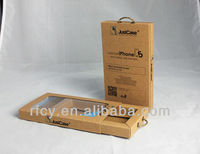paper box with pvc window, difference kinds of phone case packaging box wholesale