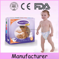China exported factory dispoable absorption susu baby diapers with waterproof feature