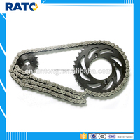 Factory price motorcycle chain & drum sprocket sets