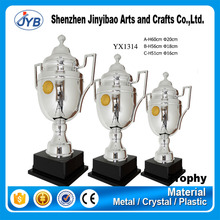 Wholesale professional trophy large silver trophy cup with medals