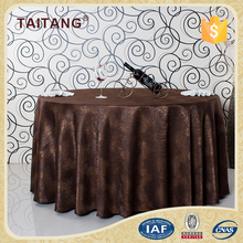 Hotel Shiny Round Heat Resistant Underlay Wrinkle Free Table Cloth