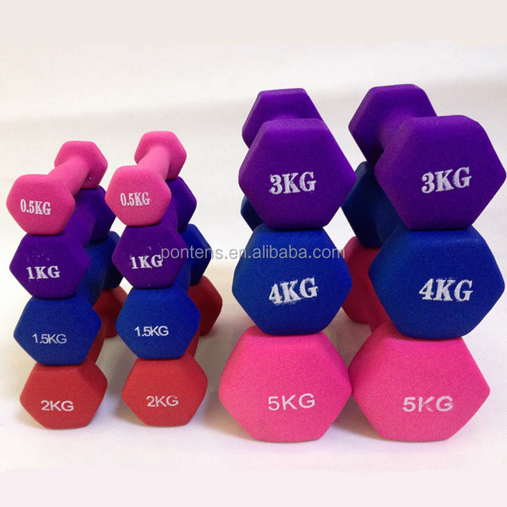 wholesale color custom logo neoprene vinly dumbbells in weight lifting