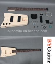DIY headless unfinished electric bass Guitar Kit GK SHB 10