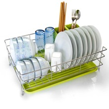 Wholesale stainless steel commercial kitchen iron metal dish organizer drying rack