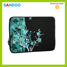 china supplier SANDOO latest product black 13 inch flower patterns neoprene laptop sleeve wholesale