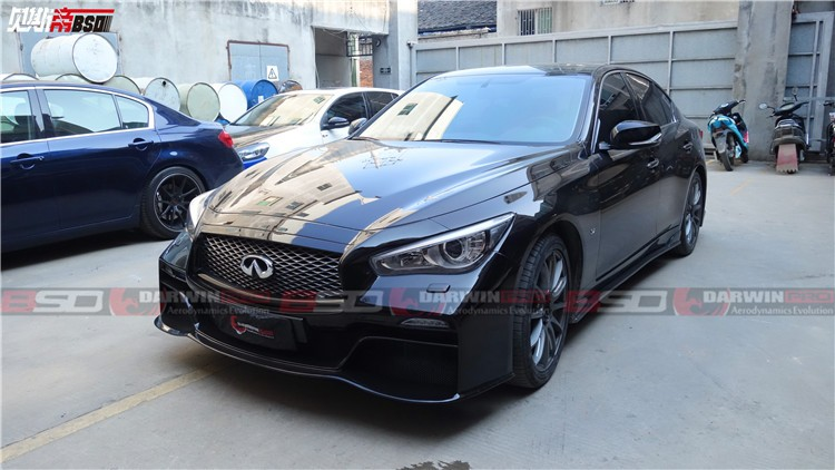 2014 2015 q50 sedan eau rouge style body kit for infiniti buy darwinpro q50 carbon fiber body. Black Bedroom Furniture Sets. Home Design Ideas