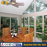Tempered glass for sunroom