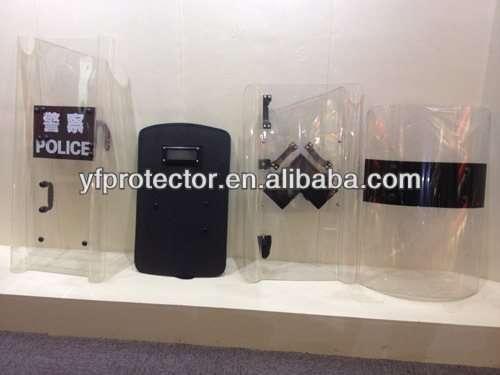 Police polycarbonate anti-riot shield/military protective shield