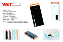 Pro factory direct 13000mah capacity double USB output universal portable power bank