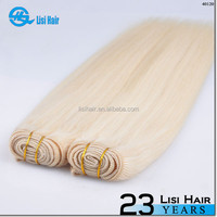 2014 Wholesale Cheap ash blonde russian double drawn remy hair weft for AU