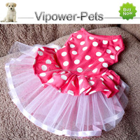Wholesale Summer Pet Clothes Multicolor Fashion Dog Dress Dotted Female Puppy Apparel