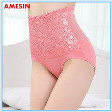 Hip Up Lace Transpatent Pants Ladies Cotton Young Pink Panties