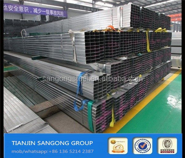 mild steel square hollow sections GI steel pipe HDG hot dip galvanized rectangular pipe square steel pipe alibaba supplier