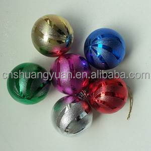 2016 hot sell plastic christmas painted ball ornaments bulk