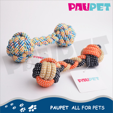 Latest product fun knot multi colored cotton rope dog toys