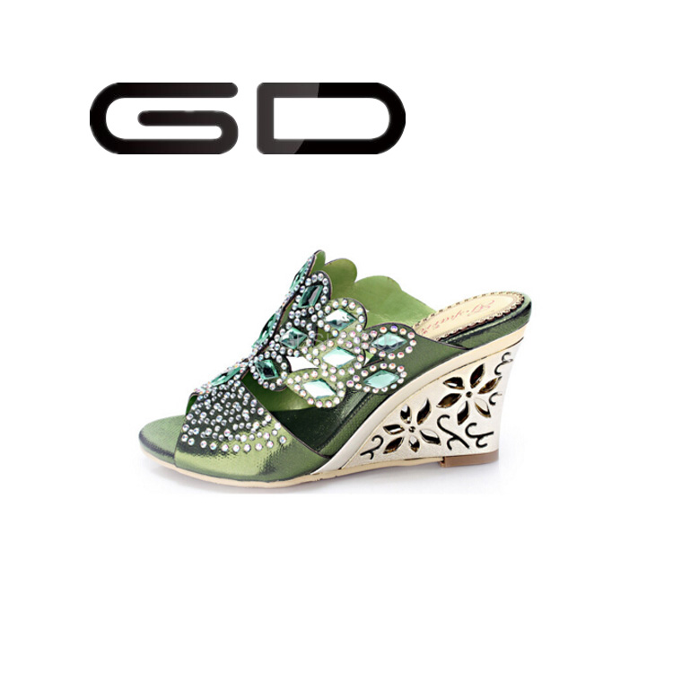 GD Mature women high heel shoes slipper out side shoes fashion foot wear