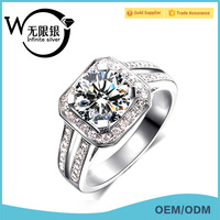 Infinite 925 sterling silver fashion ring fashion costume jewelry mood stone ring