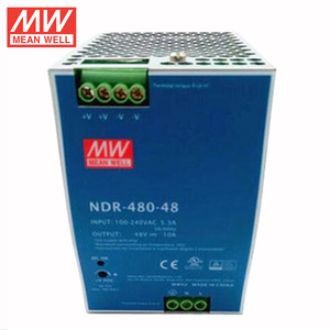 MEANWELL 75w to 480watt slim and economical NDR series din rail mount switch power supply 48VDC 10a with ul ce NDR-480-48