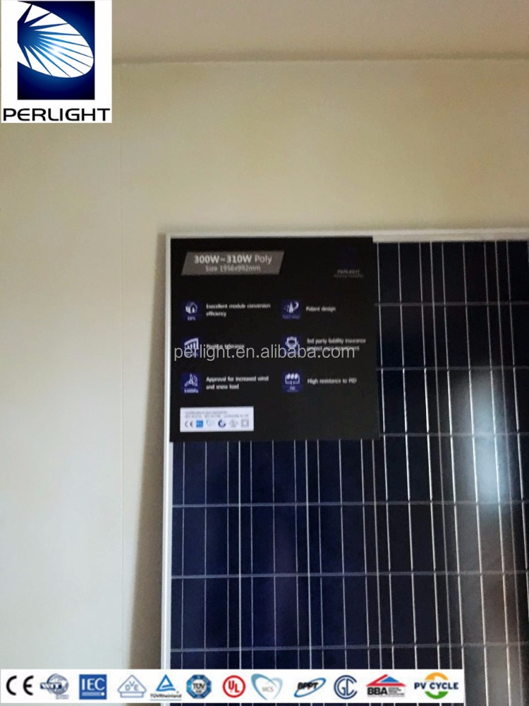 Perlight Chinese Manufacturer A Grade 300 Watt Solar Panel Poly Pv Cheap 300w Solar Panel