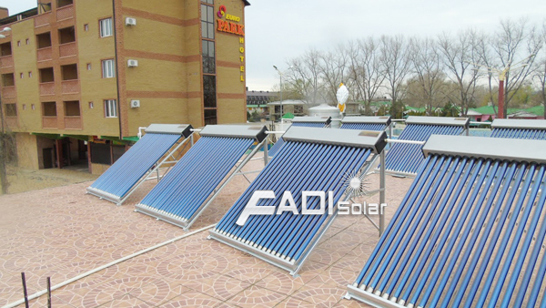 Non-pressure solar collector solar water heater system