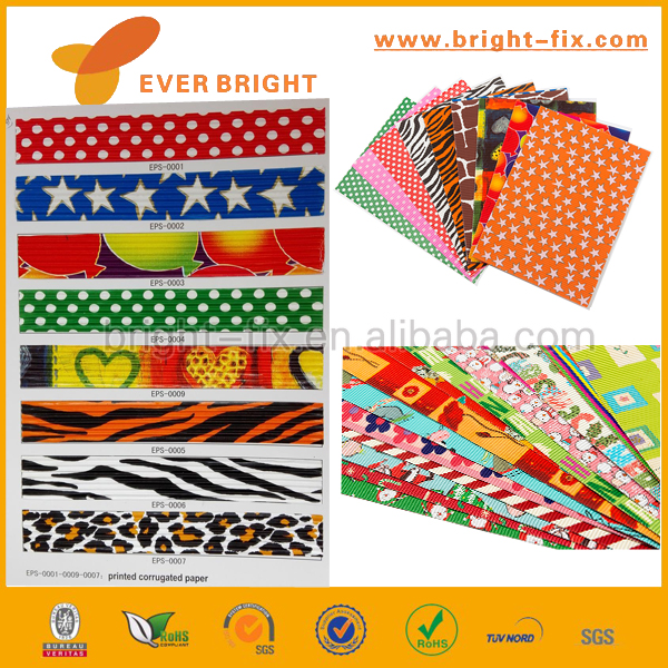 Craft Paper For Corrugated corrugated paper,Super glitter corrugated paper sheets for arts and crafting